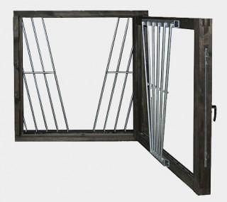 Thermo hästfönster & stallfönsteri trä